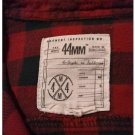 EUC 44mm Legendary Goods Men's MEDIUM Red/Black Long-Sleeved L/S Flannel Shirt