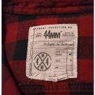 EUC 44mm Legendary Goods Men's MEDIUM Red/Black Long-Sleeved L/S Flannel Shirt