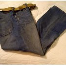 UnionBay Bronco Boot Cut Premium Mens Jeans Teens Boys Blue 34 x 30 + BELT NEW