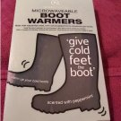 Aroma Home Winter Peppermint Scented Microwaveable Boot Shoe Warmers NEW