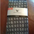 Worthington Tights - Black Openworks Style - Flower Pattern - Size M/L Up to 175 lbs.