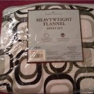 Home Classics Heavyweight Flannel Sheet Set - Twin Size Geometric Pattern Black Gray NEW
