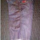 Mens Sz. 34 Deep Indigo Blue Flat Front Raw Edge SLIMBO Shorts by Vans - NEW