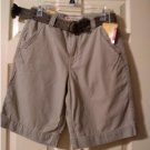 Mossimo Mens Vintage Khaki Shorts Vintage Inspired + Bonus Belt Sz 28 NEW