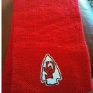 NEW NFL Team Apparel RED Knit Infinity Scarf Kansas City Chiefs KC Chiefs LOGO