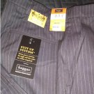 NEW Mens Suit Up System Haggar Pants 19 Black Plain Front Tonal Coin Edge Stripe 40W x 32L