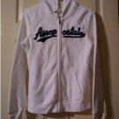 NEW Aeropostale Aero 87 Heritage Womens Hoodie Hooded Zip Front Jacket Size Medium in White
