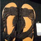 NEW with Tags Apt. 9 Huarache Sandals Size M Medium 7-8 Leather in Black