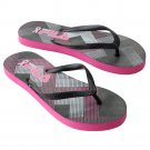 NEW Fila Geometric Breast Cancer Awareness Women's Flip-Flops Sandals L or Large 9 - 10 NEW
