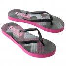 NEW Fila Geometric Breast Cancer Awareness Women's Flip-Flops Sandals Size Medium 7-8 NEW
