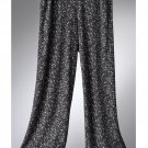 NEW Vera Wang Lounge Sleep Capri Pants Capris Floral Gray Pajama Capris Small NEW