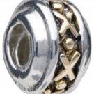 NEW PUGSTER Stunning Golden Wheel Pattern European Style Silver Bead NEW