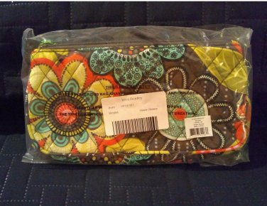 778fcd51c Vera Bradley Authentic Wristlet Clutch Bag 14558-157 Flower Shower Pattern  RETIRED NEW