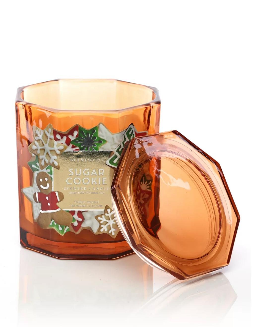 NEW Scentworx by Harry Slatkin Sugar Cookie Scent 14.5-oz. Candle Jar USA Made