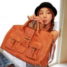 Casual Women's Handbag With Buckle and Solid Color Design