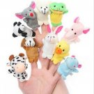 50pcs Cartoon Animal Plush Finger Puppets ,Animal Dolls for Children - Color Assorted