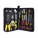 25-Piece Portable Engineer Hand Tool and Electronics Kit with Zippered Case
