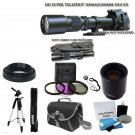 500mm 1000mm Telephoto Lens for Canon Rebel T3i T4i T5i 60D 70D 5D DSLR Camera