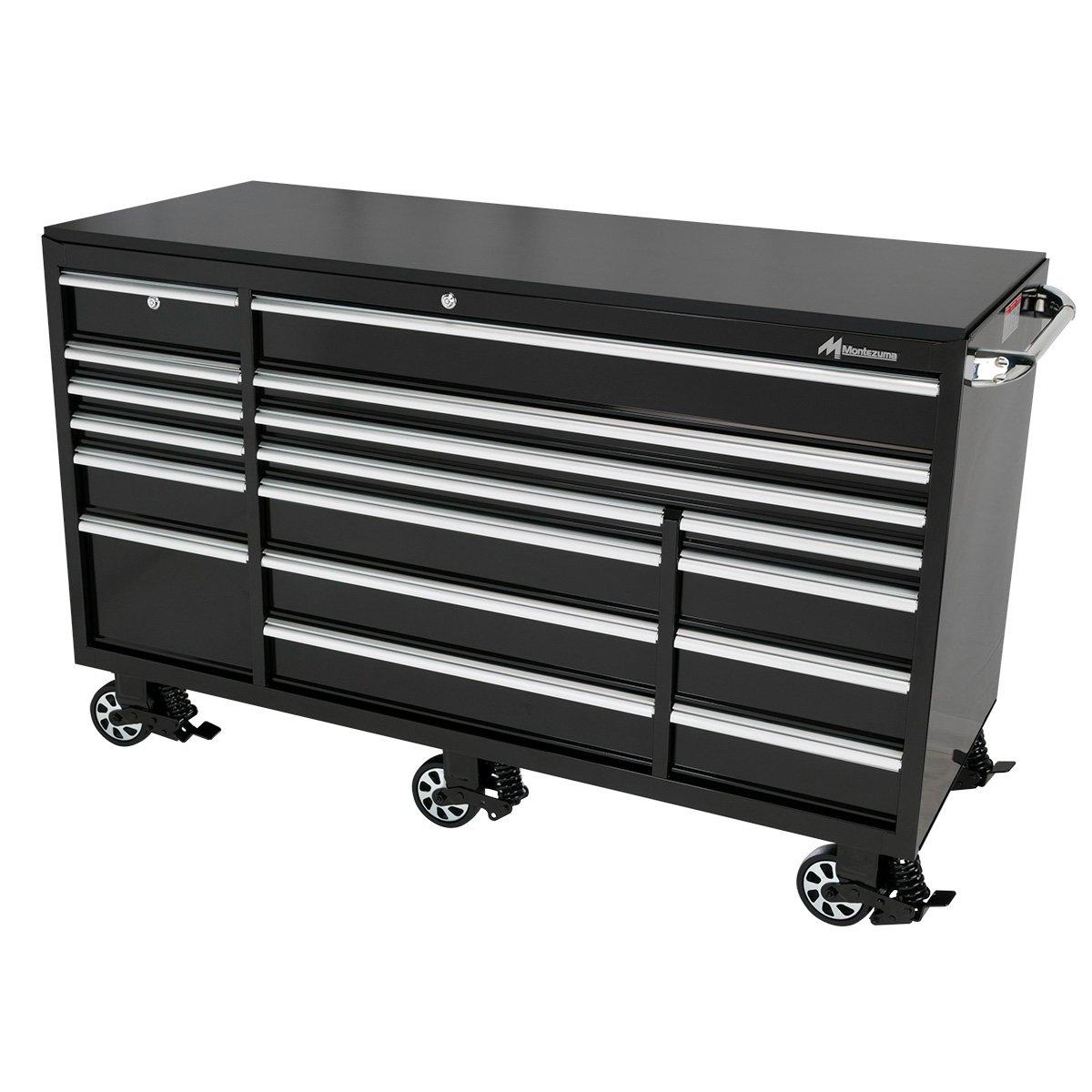montezuma bk7217mz 72 inch 17 drawer roller tool cabinet. Black Bedroom Furniture Sets. Home Design Ideas