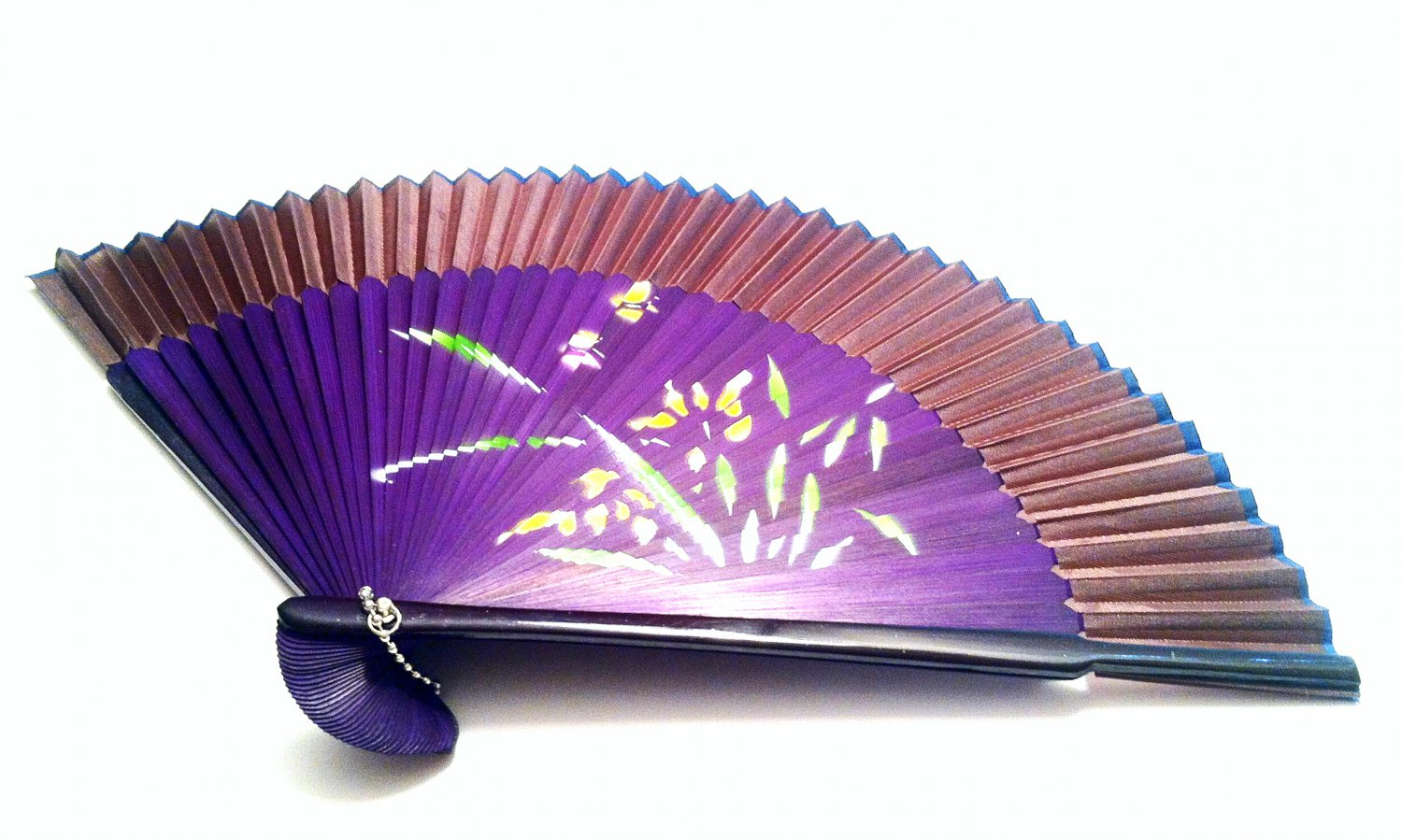 wedding ideas crafts bamboo folding fan 201006 with orchid flower design 27760