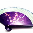 Green Chinese Plum Flower Wedding Fan Folding Handfan 201016 Spray Painted