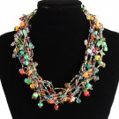 Full of Goodies Czech Crystals Glass Beads Multicolored Hand Made Fair Trade Necklace