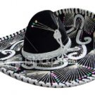 Fiesta Sombrero Adult Black and White Assortment Hand Made Mexico