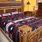 Reversible Chief's Hogan Design Southwest Bedspread QUEEN Throw Sarape Blanket