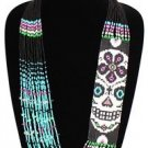 CDay of Dead Contemporary Casual Sassy Necklace Sugar Skull Skeleton NE602