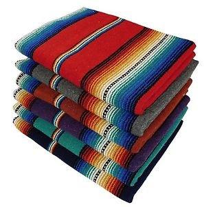 Sarape Mexican Serape Saltillo Falsa Blanket Heavy Authentic Original Red Bright