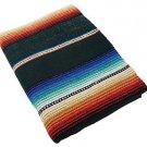 Sarape Mexico Serape Saltillo Falsa Blanket Thick Original Hunter Green Classic