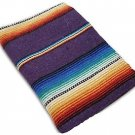 Sarape Mexico Serape Saltillo Falsa Blanket Thick Original Purple Lavender Yoga