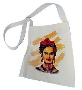 Frida Kahlo Cotton Tote Bag Printed Canvas Handbag Fair Trade Peru Market Sack
