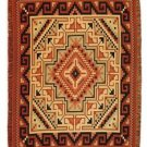 Reversible Fine Navajo Design Southwest Throw Sarape Blanket 4'x5' Classic Color