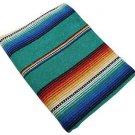 """Sarape Mexican Serape Saltillo Falsa Blanket Heavy Authentic Original 5'.5""""'x 6'"""