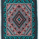 Cotton Acrylic Navajo Design Southwest Throw Sarape Blanket 4'x5' Turquoise Art