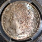 1878 S MS 65 Rainbow Toned Obverse & Reverse PCGS Graded Morgan Silver Dollar