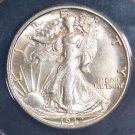 1942 S Choice Uncirculated MS 63 Walking Liberty Half Dollar