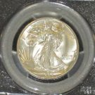 1945 S Brilliant MS 66 PCGS Certified Walking Liberty Silver Half Dollar