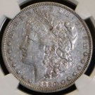 1880 8 over 7 TOP 100 VAM 6 Spikes NGC Graded XF 45 Morgan Silver Dollar