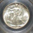 1943 MS 65 PCGS Certified Walking Liberty Silver Half Dollar