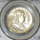 1950 D MS 64 Full Bell Line PCGS Brilliant Franklin Silver Dollar