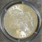 1889 Brilliant MS65 PCGS Hot 50 VAM 16 Far Date Doubled Ear Morgan Silver Dollar