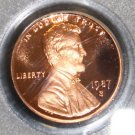 1987 S PCGS PR 69 RD Deep Mirror Cameo Frosted Proof Lincoln Memorial Cent