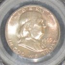 1955 MS 65 Toned Full Bell Line FBL PCGS Franklin Silver Half Dollar