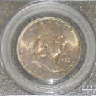 1955 MS 65 Full Bell Line PCGS Certified Toned Franklin Silver Half Dollar