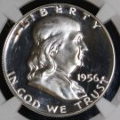 1956 Type 2 Proof 67 NGC FROSTED CAMEO Franklin Half Dollar
