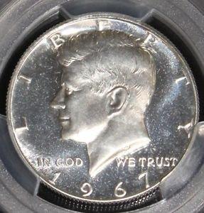 1967 PCGS SP 66 CAMEO SMS Kennedy Half Dollar