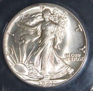 1941 MS 63 Walking Liberty Half Dollar