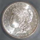 1881 S MS 65 Gem Brilliant White Morgan Silver Dollar